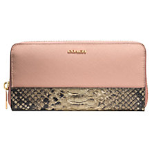 Buy Coach Saffiano Leather Zip Around Purse Online at johnlewis.com