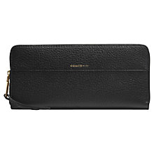 Buy Coach Capsule Pebbled Leather Zip Around Purse, Black Online at johnlewis.com