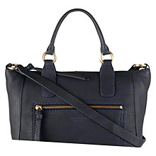 Buy Radley Medium Berkley Leather Across Body Bag, Navy Online at johnlewis.com