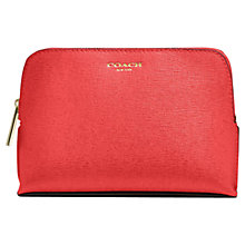 Buy Coach Saffiano Small Leather Cosmetic Case, Loganberry Online at johnlewis.com