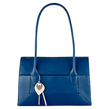 Buy Radley Medium Border Leather Tote Bag, Blue Online at johnlewis.com