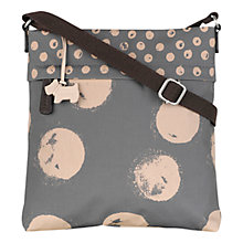 Buy Radley Large Moon Dots Fabric Across Body Bag, Grey Online at johnlewis.com