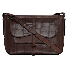 Buy Radley Medium Grosvenor Croc Leather Across Body Bag, Brown Online at johnlewis.com