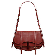 Buy Radley Medium Grosvenor Leather Shoulder Bag, Brown Online at johnlewis.com