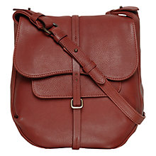 Buy Radley Medium Grosvenor Leather Across Body Bag, Burgundy Online at johnlewis.com