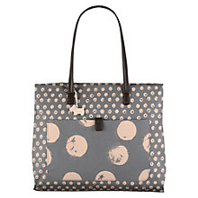 Buy Radley Large Moon Dots Fabric Tote Bag, Grey Online at johnlewis.com