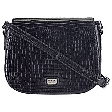 Buy O.S.P Osprey Andria Leather Cross Body Bag, Black Online at johnlewis.com