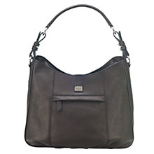 Buy O.S.P OSPREY Moritz Florentine Leather Shoulder Bag, Black Online at johnlewis.com