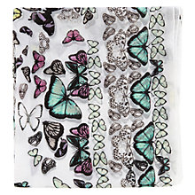 Buy Warehouse Butterfly Square Scarf, Cream Online at johnlewis.com