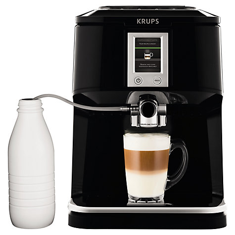 Buy KRUPS EA850B40 Espresseria Bean-to-Cup Coffee Machine, Black Online at johnlewis.com