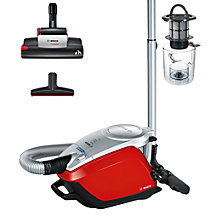 Buy Bosch BGS5PET2GB Power Animal 2 Cylinder Vacuum Cleaner, Red Online at johnlewis.com