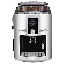 Buy KRUPS EA826E40 Espresseria Bean-to-Cup Coffee Machine, Silver Online at johnlewis.com