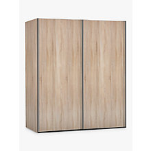 Buy John Lewis Elstra 150cm Wardrobe with Light Rustic Oak Sliding Doors Online at johnlewis.com