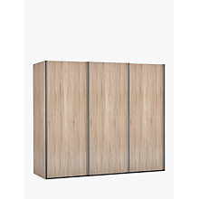 Buy John Lewis Elstra 250cm Wardrobe with Light Rustic Oak Sliding Doors Online at johnlewis.com