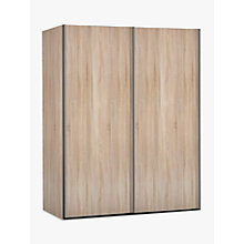 Buy John Lewis Elstra 200cm Wardrobe with Light Rustic Oak Sliding Doors Online at johnlewis.com