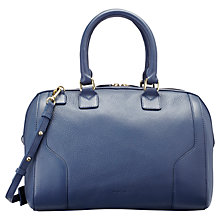 Buy Jaeger Hastings Leather Bowling Bag, Prussian Blue Online at johnlewis.com