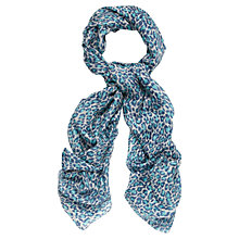 Buy Jaegar Leopard Print Scarf, Blue Online at johnlewis.com