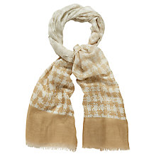 Buy Jaeger Houndstooth Scarf Online at johnlewis.com