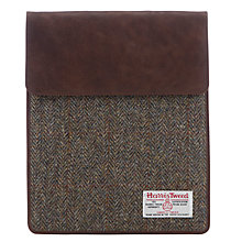 Buy John Lewis Harris Tweed iPad Case, Green Online at johnlewis.com