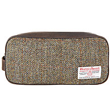 Buy John Lewis Harris Tweed Wash Bag, Green Online at johnlewis.com