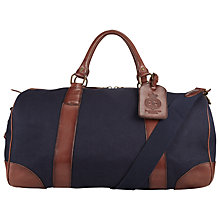 Buy Polo Ralph Lauren Canvas and Leather Gym Bag, Navy Online at johnlewis.com
