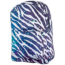 Buy Spiral Space Zebra Print Backpack, Black/White Online at johnlewis.com