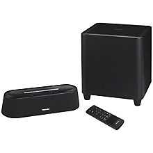 Buy Toshiba PA5075E-2SPA Mini Bluetooth Sound Bar with NFC & Wireless Subwoofer Online at johnlewis.com