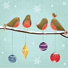 Buy Art File Robins on a Branch Charity Christmas Cards, Box of 6 Online at johnlewis.com