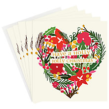 Buy Caroline Gardner Holly Jolly Charity Christmas Cards, Box of 5 Online at johnlewis.com