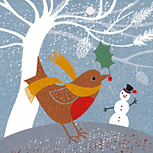 Buy Art File Flittered Robin Charity Christmas Cards, Box of 6 Online at johnlewis.com