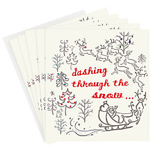 Buy Caroline Gardner Dashing Through the Snow Charity Christmas Card, Box of 5 Online at johnlewis.com