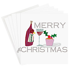 Buy Caroline Gardner Wine and Cake Charity Christmas Cards, Pack of 5 Online at johnlewis.com