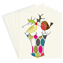 Buy Caroline Gardner Robin and Cake Charity Christmas Card, Box of 5 Online at johnlewis.com