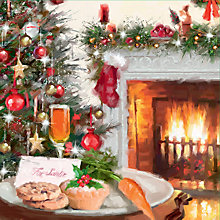 Buy Special Editions Fireside Scene Charity Christmas Cards, Box of 8 Online at johnlewis.com