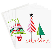 Buy Caroline Gardner Colourful Trees Charity Christmas Cards, Box of 5 Online at johnlewis.com