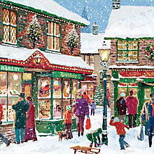 Buy Special Editions Snowy Shopping Scene Charity Christmas Cards, Pack of 8 Online at johnlewis.com