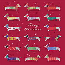 Buy Art File Dachshunds Charity Christmas Cards, Box of 6 Online at johnlewis.com