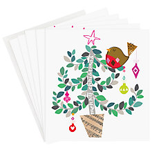 Buy Caroline Gardner Robin in Tree Charity Christmas Card, Pack of 5 Online at johnlewis.com