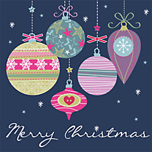 Buy Art File Christmas Baubles Charity Cards, Box of 6 Online at johnlewis.com