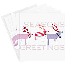 Buy Caroline Garnder Season's Greetings Reindeer Charity Christmas Card, Pack of 5 Online at johnlewis.com