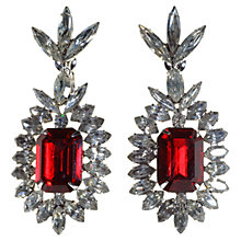 Buy Alice Joseph Vintage Napier Diamante Drop Clip-On Earrings, Red Online at johnlewis.com