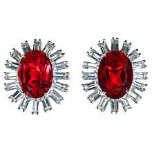Buy Alice Joseph Vintage Cerise Stone And Diamante Clip-On Earrings, Red Online at johnlewis.com
