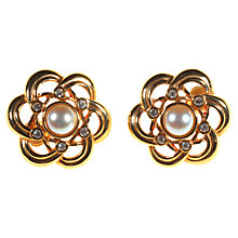 Buy Alice Joseph Vintage 1980's Swarovski Pearl And Diamante Clip-On Earrings Online at johnlewis.com