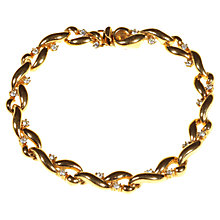 Buy Alice Joseph Vintage 1980's Attwood & Sawyer White Diamante Bracelet, Gold Online at johnlewis.com