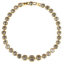 Buy Alice Joseph Vintage 1980s Swarovski Graduating Hexagon Crystal Gilt Necklace Online at johnlewis.com