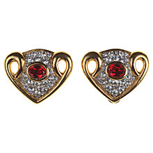 Buy Alice Joseph Vintage 1980's Attwood & Sawyer Diamante Clip-On Earrings, Gold Online at johnlewis.com