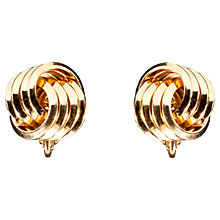 Buy Susan Caplan Vintage 1970s Trifari Gold Plated Knot Clip-On Earrings, Gold Online at johnlewis.com