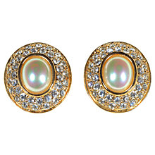 Buy Alice Joseph Vintage 1990's Roman Pearl And Diamante Stud Earrings Online at johnlewis.com