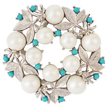Buy Susan Caplan Vintage 1950s Sarah Coventry Faux Pearl Brooch, Silver Online at johnlewis.com