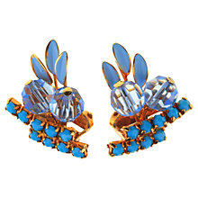 Buy Alice Joseph Vintage Pale Blue Enamel Clip-On Earrings, Blue Online at johnlewis.com